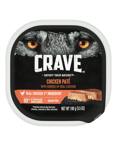 Picture of Crave Grain Free Chicken Pate with Shreds of Chicken - 3.5 oz.