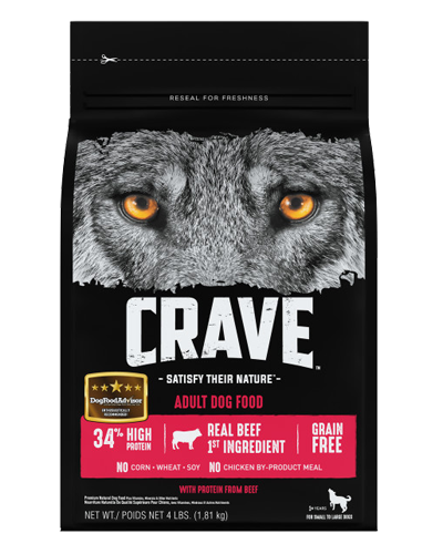 Picture of Crave Grain Free Formula with Beef - 4 lb.