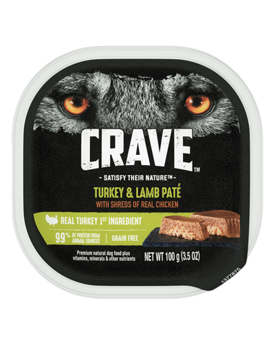 Picture of Crave Grain Free Turkey & Lamb Pate with Shreds of Chicken - 3.5 oz.