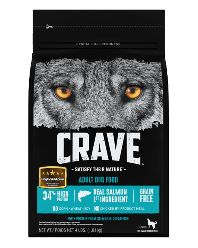Picture of Crave Grain Free Formula with Salmon & Ocean Fish - 4 lb.