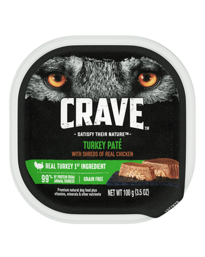 Picture of Crave Grain Free Turkey Pate with Shreds of Chicken - 3.5 oz.
