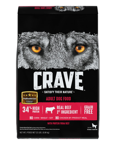 Picture of Crave Grain Free Formula with Beef - 22 lb