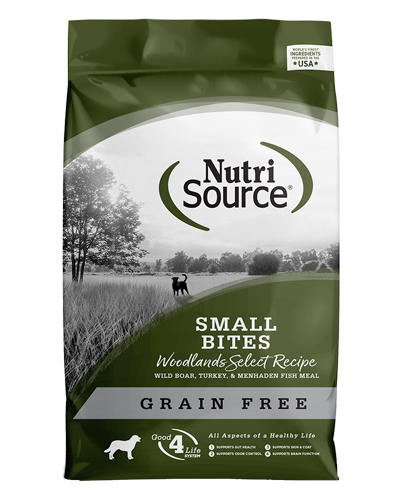 Picture of Nutrisource Grain Free Small Bites Woodland Select Formula - 15 lbs