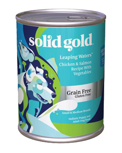 Picture of Solid Gold Grain Free Leaping Water with Chicken & Salmon - 13.2 oz.