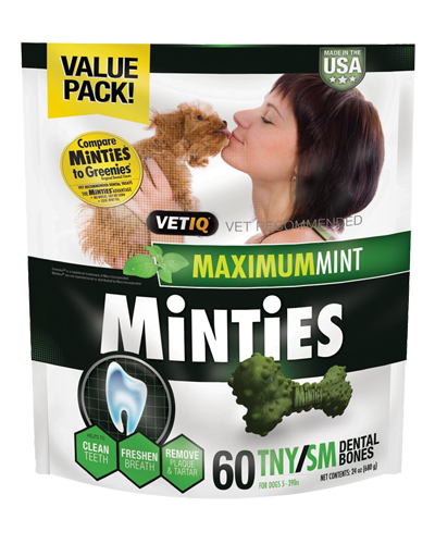 Picture of VetIQ Minties Tiny/Small Dental Bones - 24 oz.