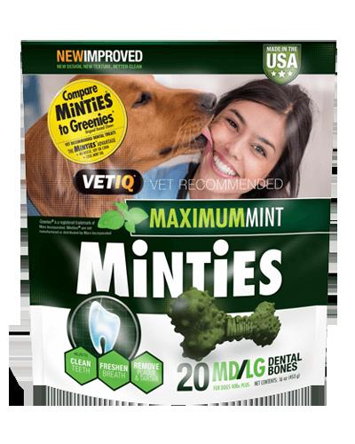 Picture of VetIQ Minties Medium/Large Dental Bones - 16 oz.