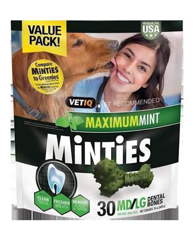 Picture of VetIQ Minties Medium/Large Dental Bones - 24 oz.