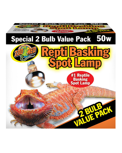 Picture of ZooMed Labs Repti Basking Spot Lamps Value 2 Pack - 50 Watt