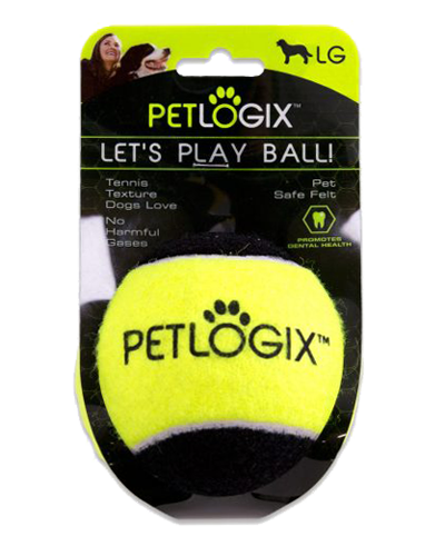 "Picture of PetLogix Let's Play Ball Tennis Ball 4"" - Large"