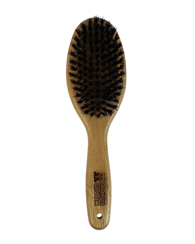 Picture of Bamboo Groom Oval Bristle Brush with Natural Boar Bristles