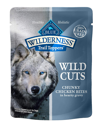 Picture of Blue Buffalo Wilderness Wild Cuts Trail Toppers Chunky Chicken Bites in Hearty Gravy - 3 oz