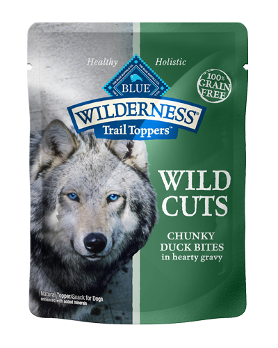 Picture of Blue Buffalo Wilderness Wild Cuts Trail Toppers Chunky Duck Bites in Hearty Gravy - 3 oz