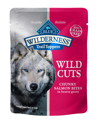 Picture of Blue Buffalo Wilderness Wild Cuts Trail Toppers Chunky Salmon Bites in Hearty Gravy - 3 oz