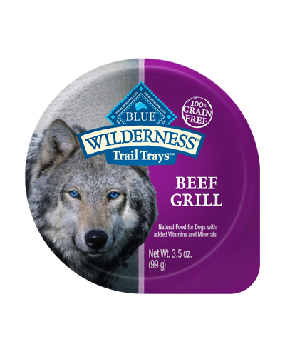 Picture of Blue Buffalo Wilderness Trail Trays Beef Grill - 3.5 oz.
