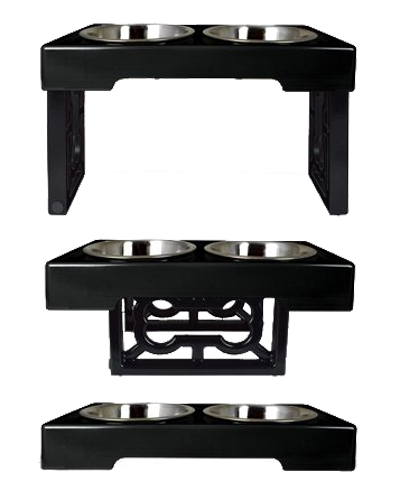 Picture of OurPets Barking Bistro Adjustable Feeder 3.5 Quart