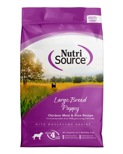 Picture of Nutrisource Large Breed Puppy Chicken & Rice Formula - 15 lbs
