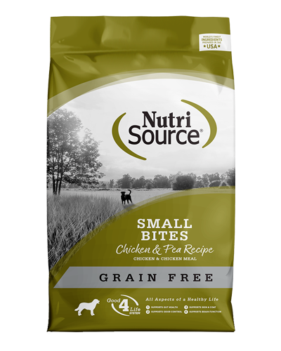 Picture of Nutrisource Grain Free Small Bites Chicken & Peas Formula - 5 lbs