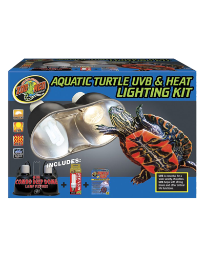 Picture of ZooMed Labs Aquatic Turtle UVB and Heat Lighting Kit