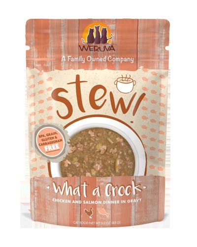 Picture of Weruva Stew! What A Crock Chicken & Salmon in Gravy - 3 oz