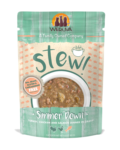 Picture of Weruva Stew! Simmer Down Turkey, Chicken & Salmon in Gravy - 3 oz