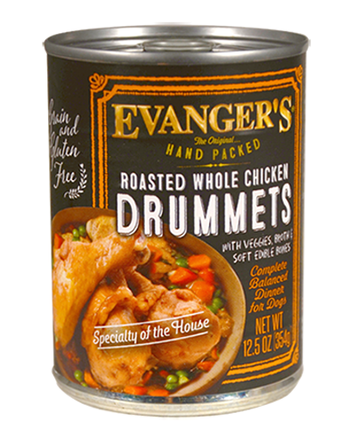 Picture of Evanger's Hand Packed Roasted Whole Chicken Drummets Dinner - 12 oz.