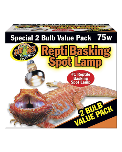Picture of ZooMed Labs Repti Basking Spot Lamps Value 2 Pack - 75 Watt