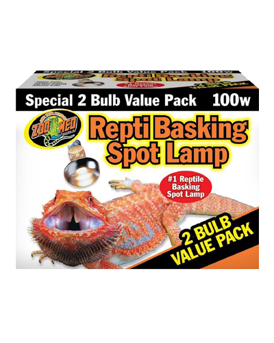 Picture of ZooMed Labs Repti Basking Spot Lamp Value 2 Pack - 100 Watt