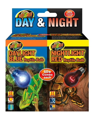 Picture of ZooMed Labs Day and Night Reptile Basking Combo - 60 Watt