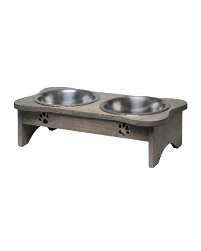 Picture of Loving Pets Black Label Collection Wooden Modern Double Diner 1 Quart