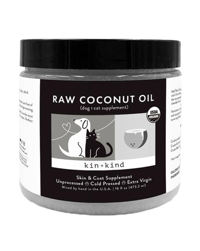 Picture of kin+kind Raw Coconut Oil Skin & Coat Supplement - 8 oz