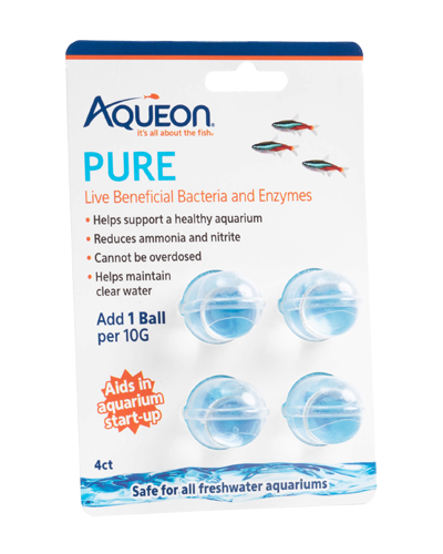 Picture of Aqueon PURE Freshwater Aquarium Live Bacteria and Enzymes 10 Gallon Dose - 4 Pack