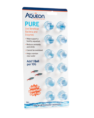 Picture of Aqueon PURE Freshwater Aquarium Live Bacteria and Enzymes 10 Gallon Dose - 12 Pack