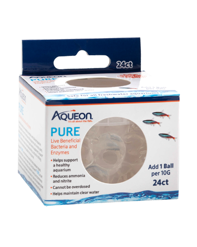 Picture of Aqueon PURE Freshwater Aquarium Live Bacteria and Enzymes 10 Gallon Dose - 24 Pack