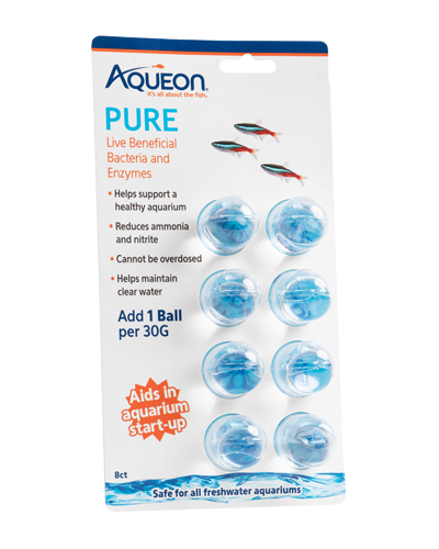 Picture of Aqueon PURE Freshwater Aquarium Live Bacteria and Enzymes 30 Gallon Dose - 8 Pack