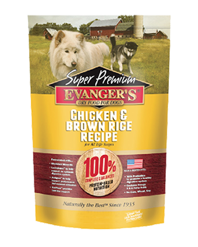 Picture of Evanger's Super Premium Chicken with Brown Rice - 4.4 lb.