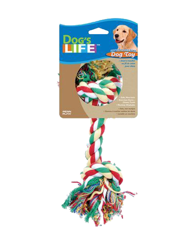"""Picture of Dog Life Rruff Stuff Two Knot Rope - 15.5"""""""
