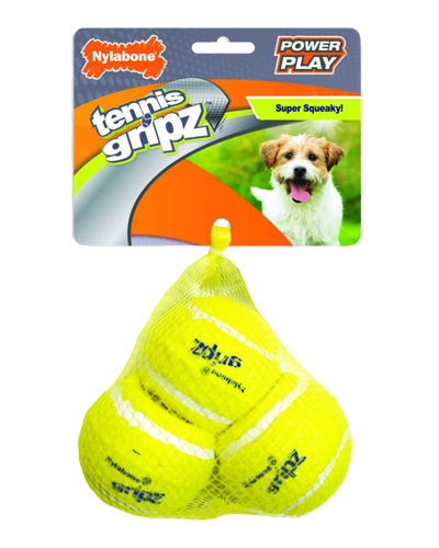 Picture of Nylabone Power Play Gripz Tennis Balls - Small 3 Pack