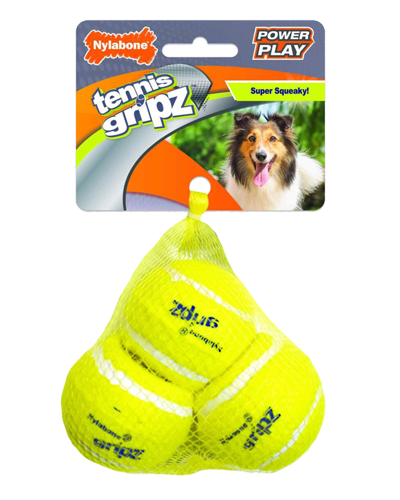 Picture of Nylabone Power Play Gripz Tennis Balls - Medium 3 Pack