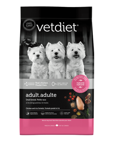 Picture of Vetdiet Adult Small Breed Chicken & Rice Formula - 15 lb.