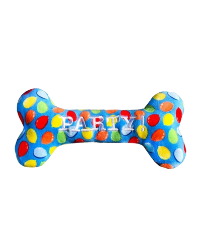 """Picture of Lulubelle's Party Time Blue Bone - 8.5"""""""
