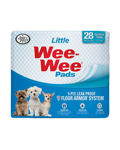 """Picture of Four Paws Wee Wee Pads for Little Dogs  - 28 Count 16.5"""" x 23.52"""""""