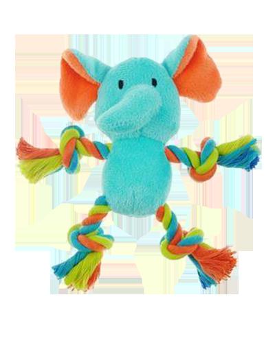 """Picture of Chomper Mini Safari Tug Me Elephant Toy - 7"""""""