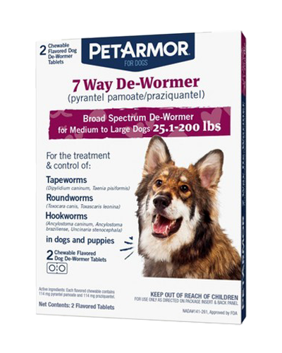 Picture of Pet Armor 7 Way De-Wormer for Medium & Large Dogs - 2 Ct