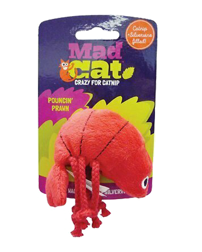 Picture of Mad Cat Pouncin' Prawn Catnip Cat Toy with Silvervine