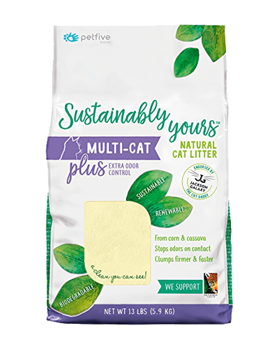 Picture of Sustainably Yours Multi-Cat Plus Litter - 13 lbs