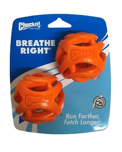 Picture of ChuckIt! Medium Breathe Right Fetch Ball - 2 Pack