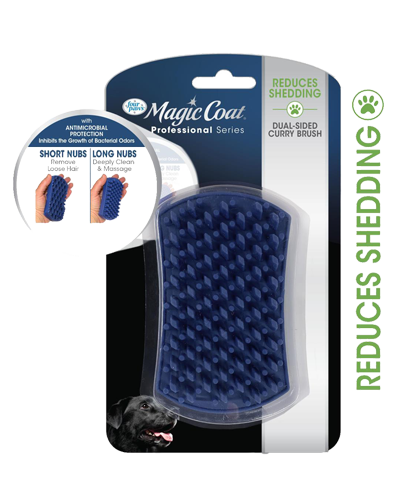 Picture of Four Paws Magic Coat Anti-Microbial Curry Brush
