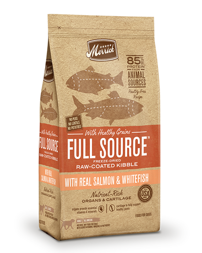 Picture of Merrick Full Source with Healthy Grains Raw-Coated Kibble with Salmon & Whitefish - 20 lbs.