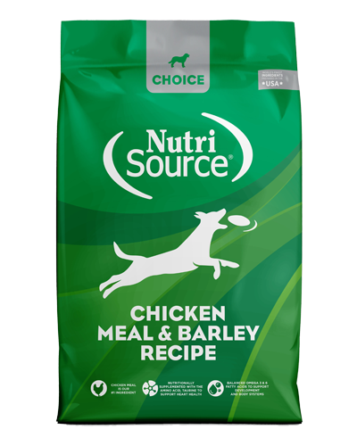 Picture of Nutrisource Choice Chicken Meal & Barley Recipe - 30 lbs