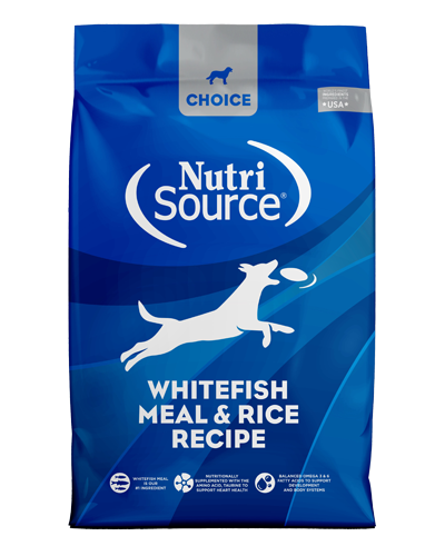Picture of Nutrisource Choice Whitefish Meal & Rice Recipe - 30 lbs